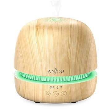 Anjou AJ-PCN082 világosbarna fa LED + 8 féle illat, 5 ml - Aroma diffúzor