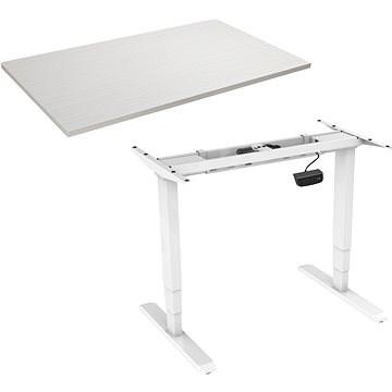 AlzaErgo Table ET1 NewGen fehér + TTE-03 fehér furnér asztallap 160 x 80cm - Asztal