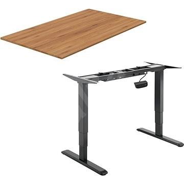 AlzaErgo Table ET1 NewGen fekete + TTE-01 bambusz asztallap 140 x 80cm - Asztal