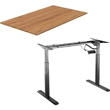 AlzaErgo Table ET2 fekete + TTE-01 bambusz asztallap 140 x 80 cm - Asztal