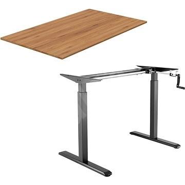 AlzaErgo Table ET3 fekete + TTE-01 bambusz lap 140 x 80cm - Asztal