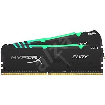 HyperX 16GB KIT DDR4 2666MHz CL16 RGB FURY Series - Rendszermemória