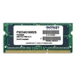 Patriot SO-DIMM 4GB DDR3 1600MHz CL11 Signature Line - RAM memória