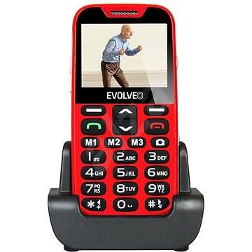 EVOLVEO EasyPhone XD piros-ezüst - Mobiltelefon