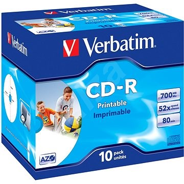 Verbatim CD-R Imprimable AZO 52x, Printable 10 db - tokokban - Média