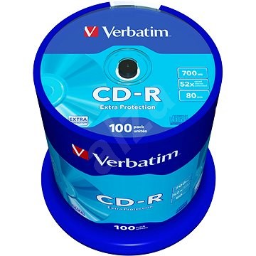 Verbatim CD-R DataLife Protection 52x, 100db - Média