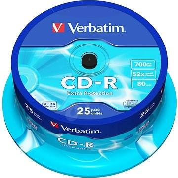 Verbatim CD-R 52x, Pirate Island védelem, 25db-os cakebox - Média