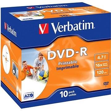 Verbatim DVD-R 16x, Printable 10db dobozonként - Média