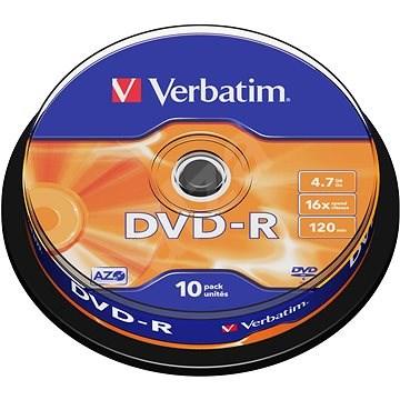 Verbatim DVD-R 16x, 10db cakebox - Média