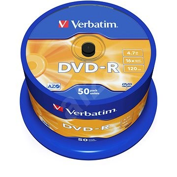 Verbatim DVD-R 16x, 50ks cakebox - Média