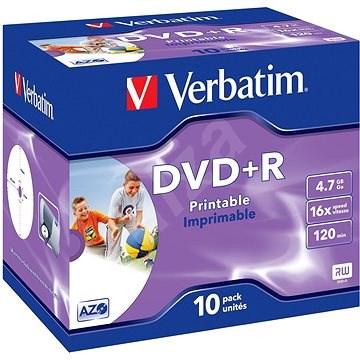 Verbatim DVD+R 16x, Printable 10db-os csomagolás - Média