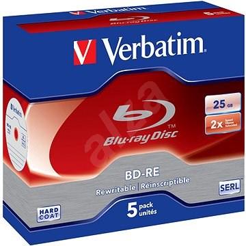 VERBATIM BD-RE SL 25GB, 2x, jewel case 5 db - Média