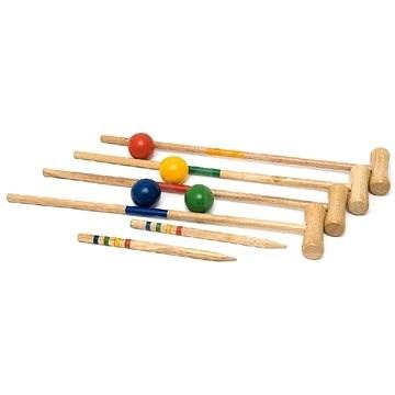 Woody kerti krokett hálós táskában - Krikett készlet