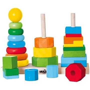 Woody összecsukható torony - Készségfejlesztő játék