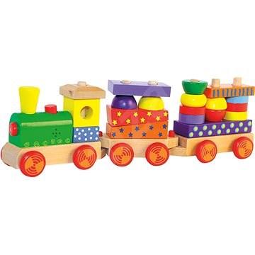 Woody összecsukható vonat fénnyel - Vonat