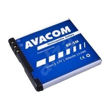AVACOM akkumulátor Nokia N81, 6500 Slide készülékekhez, Li-Ion 3,7V 950mAh (BP-5M helyett) - Mobiltelefon akkumulátor