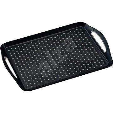Kesper Műanyag, csúszásmentes fekete tálalótálca 45,5 x 32 cm - Tálca