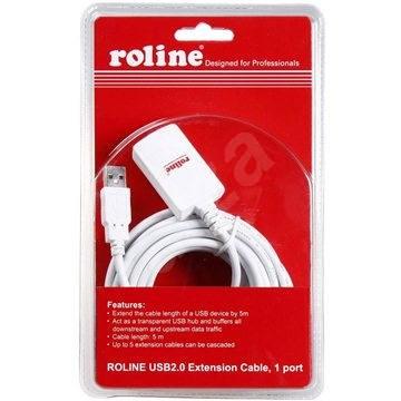 ROLINE USB 2.0 hosszabbító 5 m AA aktív fehér - Adatkábel
