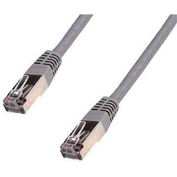 Datacom CAT5E 0,5 m FTP kábel, szürke - Hálózati kábel