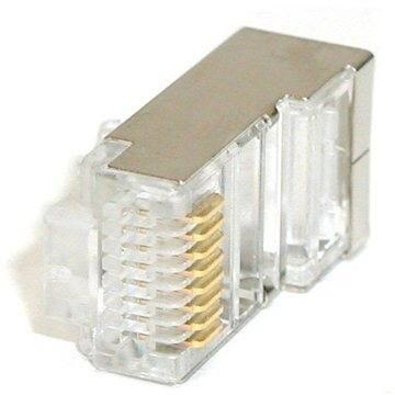 ROLINE 10db-os csomag, RJ45 CAT5 STP 8p8c árnyékolt, kábelre - Csatlakozó