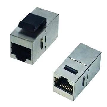 Datacom Panelos csatlakozó STP CAT6  2xRJ45 (8p8c) egyenes - Vezeték összekötők