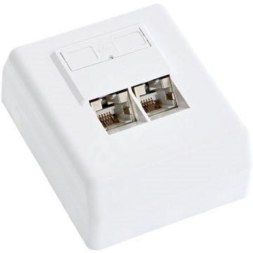 Datacom, CAT5E, STP, 2x RJ45, falra - Aljzat