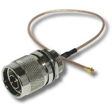 Átalakító (pigtail) 2,4 / 5 GHz N-Male az U.FL-Female -re - Átalakító