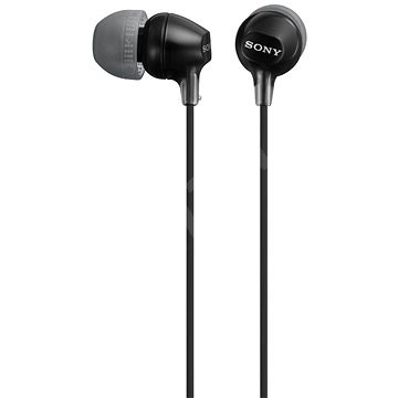Sony MDR-EX15LP, fekete - Fej-/fülhallgató