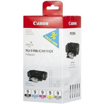 Canon PGI-9 PBK/C/M/Y/GY Multipack - Tintapatron