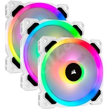 Corsair LL120 RGB 120mm Dual Light Loop White RGB LED PWM Fan - Triple Pack with Lighting Node PRO - Számítógép ventilátor